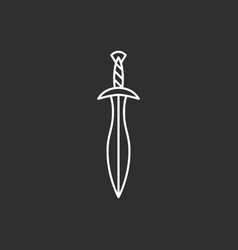 sword icon line art vector image