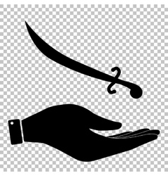Sword sign Flat style icon vector image