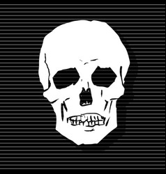 the stylized human skull vector image
