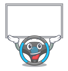 Up board steering wheel isolated in cartoon vector