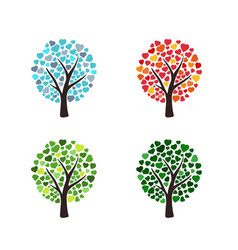 weather trees forecast vector image