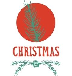 xmas card christmas greeting hand drawn lettering vector image