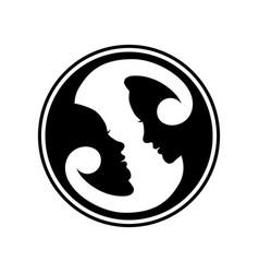 zodiac sign creative logo concept vector image