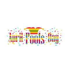 april fools day cap with bells jester hat vector image