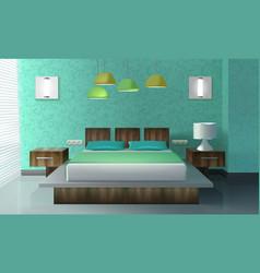 bedroom interior design vector image