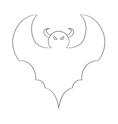 contour image of a bat drawing for coloring vector image