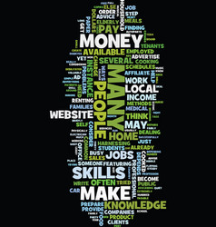 money is this how you make it text background vector image