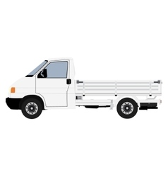 White pickup truck vector image
