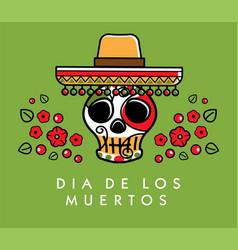 Dia de los muertos day of the dead poster vector