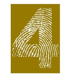 Fingerprint Alphabet No 4 vector image vector image