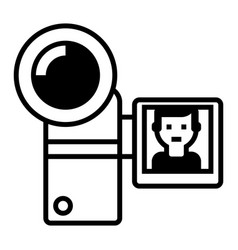 video recording line icon sign vector image vector image