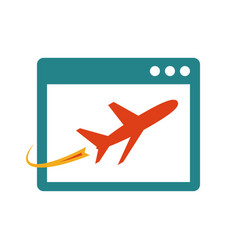 airplane on site page vector image