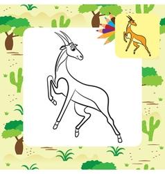antilopa coloring page vector image vector image