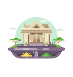 Architectural bank building vector