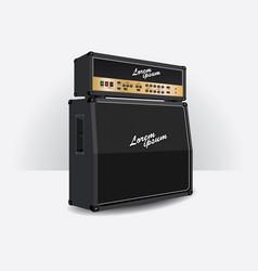 guitar amplifier set vector image vector image