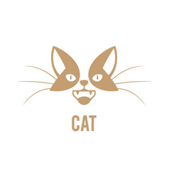 logo design template for pet shops vector image