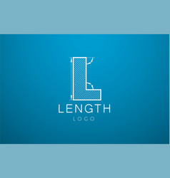 logo template letter l in the style of a vector image vector image