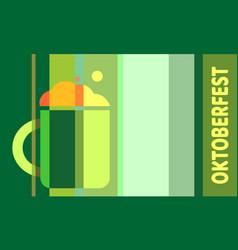 oktoberfest textured word vector image vector image