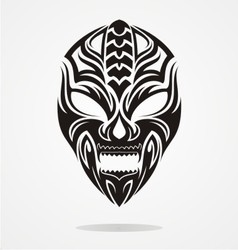 Tribal evil mask vector