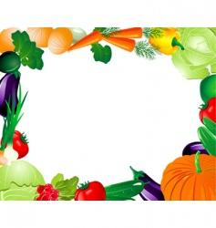 vegetable frame vector image