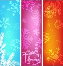 abstract christmas banners set vector image vector image
