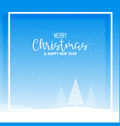 awesome christmas winter landscape design with vector image vector image