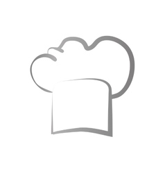 isolated chef hat vector image