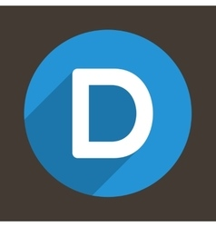 Letter D Logo Flat Icon Style vector image