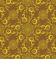 line flower pattern yellow vector image vector image