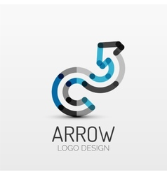 Rotation arrow company logo business concept vector image