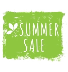 Summer sale ink background with leaves and vector image vector image