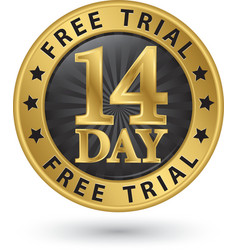 14 day free trial golden label vector
