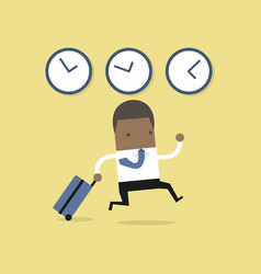 african businessman goes on a business trip abroad vector image