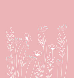 Background meadow flowers vector