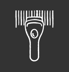 barcode scanning chalk icon vector image