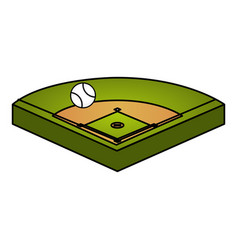 Baseball diamond isolated icon vector