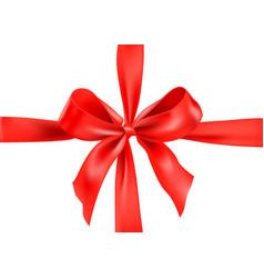 big red ribbon vector image