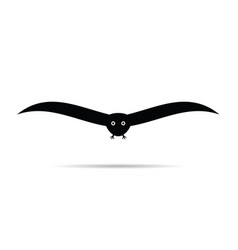 Bird black vector