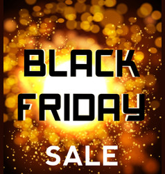 black friday sale background explosion vector image