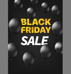 Black friday sale concept black friday on black vector
