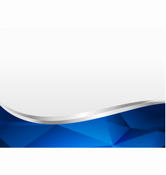 Blue wavy shape background layout vector