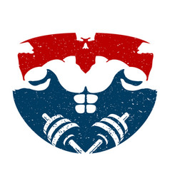 bodybuilding training symbol vector image