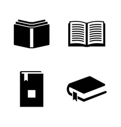 Book simple related icons vector