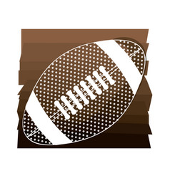 brown background with football ball with white vector image