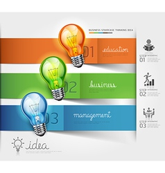 Business lightbulb idea vector