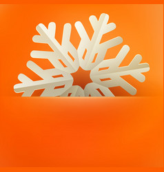 christmas and new years orange background with vector image