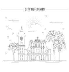 City buildings graphic template Venezuela vector image