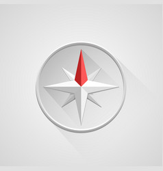 Compass 3d object on a white background vector