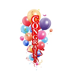 Congratulations celebration with balloon vector