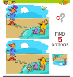 Find differences game for kids vector